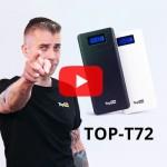 Внешний аккумулятор TopON TOP-T72 18000mAh (66.6Wh) QC 2.0, 2 USB для ноутбука, планшета, смартфона и аккумулятора авто. Черный