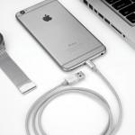 Кабель Lightning MFi для поключения к USB Apple iPhone X, iPhone 8 Plus, iPhone 7 Plus, iPhone 6 Plus, iPad. Замена: MD818ZM/A, MD819ZM/A. Серый.