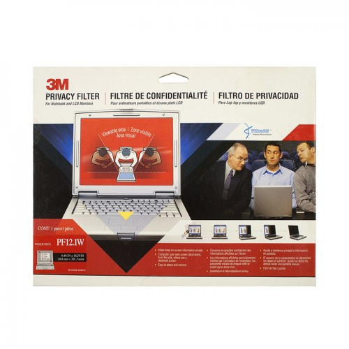Экран (фильтр) защиты информации для монитора, 12.1 (widescreen), черный, 16:10