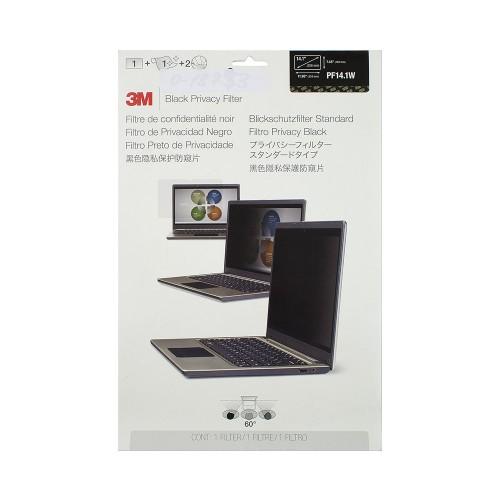 Экран (фильтр) защиты информации для монитора, 14.1 (widescreen), черный, 16:10