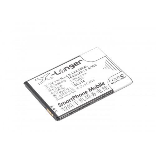 АКБ Li-Ion BL203, BL214 для Lenovo A208t, A316i, A369i, S898t 3.7V 1600mAh