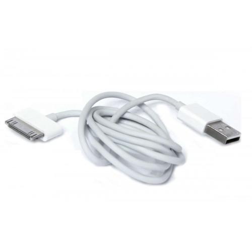 Дата-кабель Apple Iphone 4/4S/4C 30-pin для USB, белый