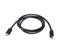 Кабель USB-С - USB-C, черный, 1 метр (для передачи данных/зарядки)