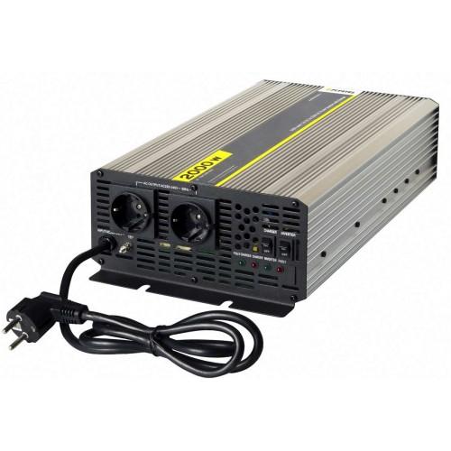 Инвертор Pitatel KV-PU2000.12 (12V220V, чистый синус, ИБП, 2000W)