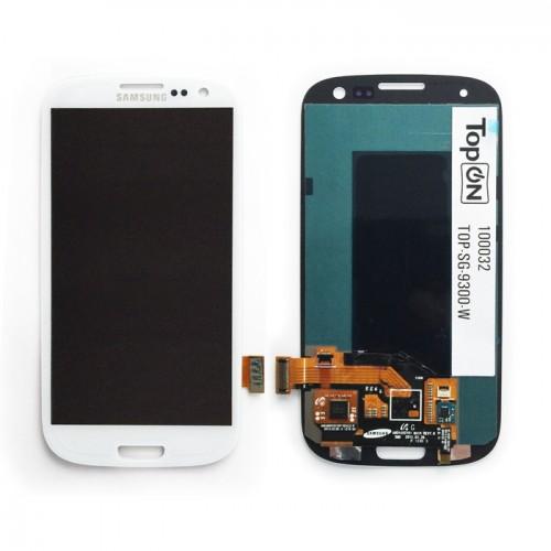 Матрица и тачскрин  в сборе для смартфона SAMSUNG GT-i9300i Galaxy S3 Duos. Белый.