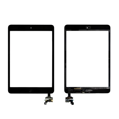 Сенсорное стекло, тачскрин Apple iPad Mini Retina с чипом и кнопкой Home. Черный