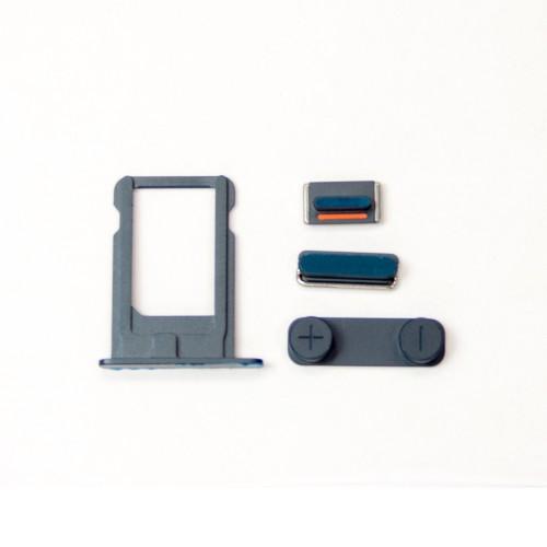 Комплект кнопок и лоток под sim-карту для iPhone 5, черный.