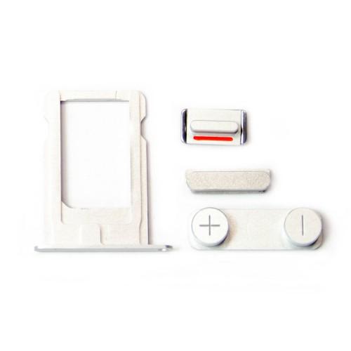 Комплект кнопок и лоток под sim-карту для iPhone 5, серый.