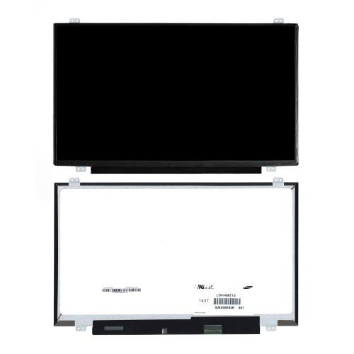Матрица для ноутбука 14 1920x1080 FHD, 30 pin eDP, Slim, LED, TN, крепления сверху/снизу (уши), матовая. PN: B140HTN01