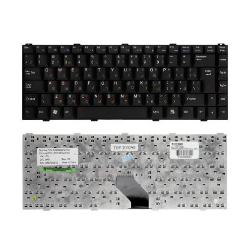 Клавиатура для ноутбука Asus Z96, S96, Z62, Z84 Series. Г-образный Enter. Черная, без рамки. PN: V020662AK1.