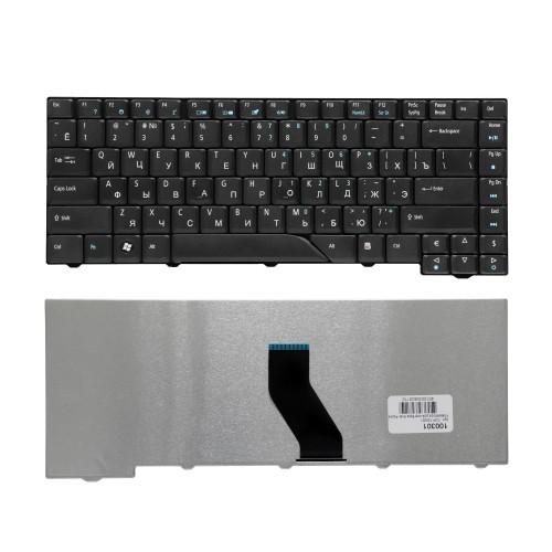 Клавиатура для ноутбука  Acer Aspire 4210, 4220, 4230, 4320, 4330, 4430, 4930 Series. Плоский Enter. Черная, без рамки. PN: MP-07A23SU-6981, NSK-H370R