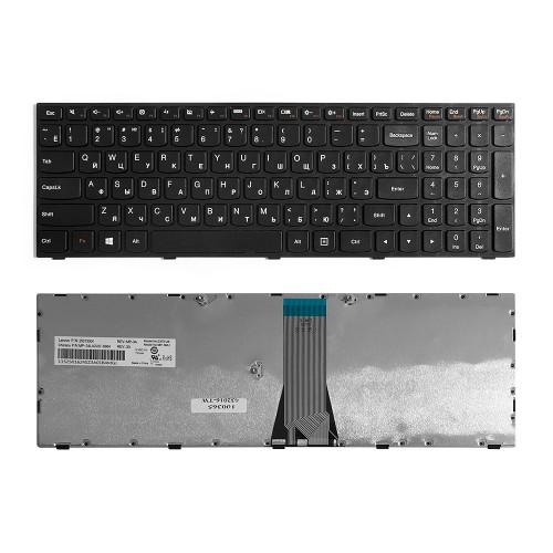 Клавиатура для ноутбука Lenovo IdeaPad G50-30, G50-45, G50-70 Series. Плоский Enter. Черная, с черной рамкой. PN: MP-13Q13US-686.