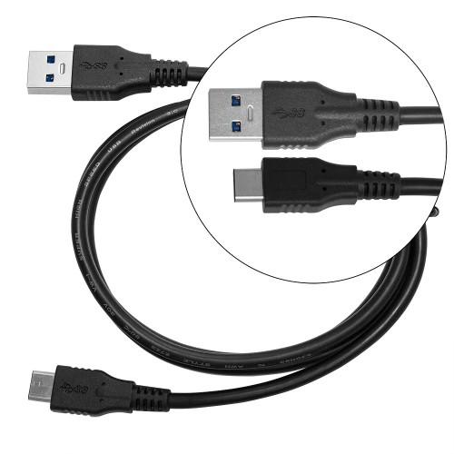 Кабель USB 3.1 Type-C -> USB A 3.0 (SS) для MacBook Pro, ChromeBook, Google Pixel, Huawei Honor, Xiaomi Mi, LG, Samsung Note 8, S8. Черный, длина 1 м.