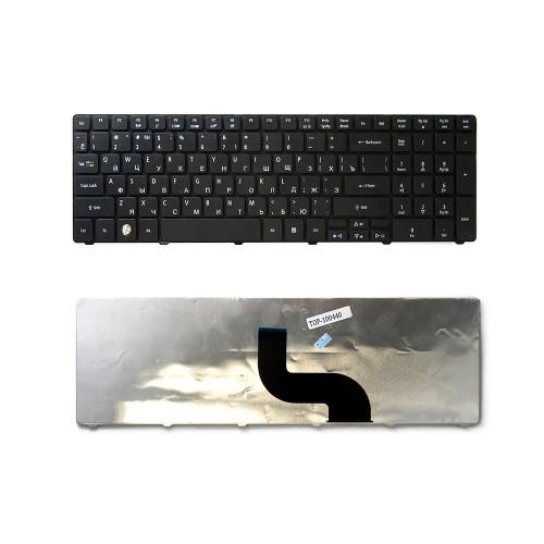 Клавиатура для ноутбука Acer Aspire 5810T, 5410T, 5820TG, 5738, 5739, 5542, 5551, 5553G Series. Плоский Enter. Черная, без рамки. PN: KB.I170G.276.