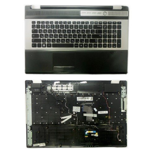 Клавиатура для ноутбука  Samsung RC730, RF710, RF711 Series. Черная, c topcase.