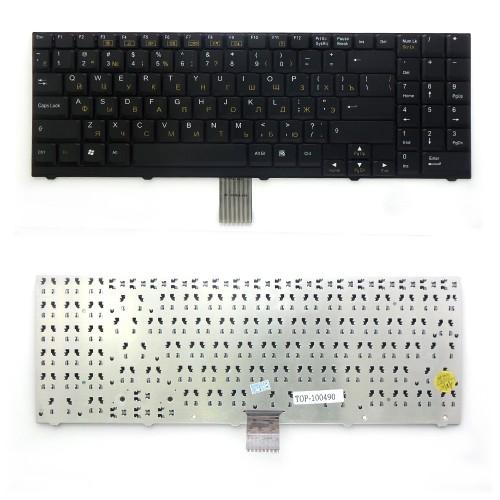 Клавиатура для ноутбука DNS 0116103, 0116104, 0116105, 0116106 Series. Плоский Enter. Черная, без рамки. PN: MP-03753SU-4305L.