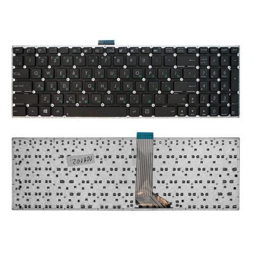 Клавиатура для ноутбука Asus X553M, X502C, X555L, F553M, X554L, X553MA Series. Плоский Enter. Черная, без рамки. PN: 0KNB0-612ARU00.