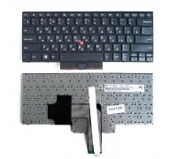 Клавиатура для ноутбука Lenovo Edge E320, E325, E420 Series. Плоский Enter. Черная, с черной рамкой. PN: 04W0764.