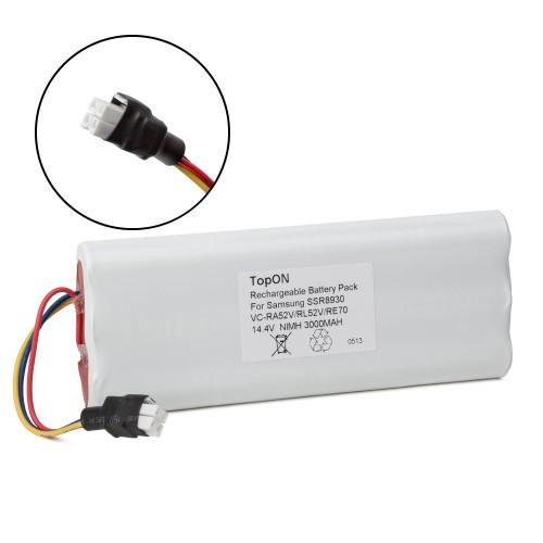 Аккумулятор для робота-пылесоса Samsung Tango VC-RA50VB, VC-RA52V, VC-RA84V, VC-RE70V, SSR8930. 14.4V 3000mAh Ni-MH. PN: SAM14.49B, CS-SMR840V.