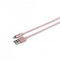 Кабель Lightning MFi для поключения к USB Apple iPhone X, iPhone 8 Plus, iPhone 7 Plus, iPhone 6 Plus, iPad. Замена: MD818ZM/A, MD819ZM/A. Розовый.