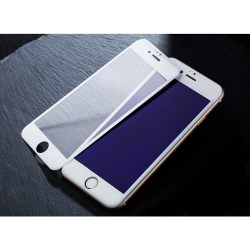 Защитное 3D стекло на экран для Apple iPhone 6 с антибликовым и олеофобным покрытием Цвет белый