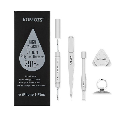 Аккумулятор для Apple iPhone 6 Plus на 2915mAh 3.8V (10.07Wh) с увеличенным сроком службы. Комплект инструментов и инструкция по замене в наборе.