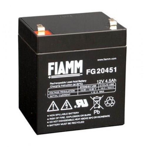 Аккумуляторная батарея для эхолота FIAMM FG 20451 на 12V 4.5Ah (90x70x102mm)