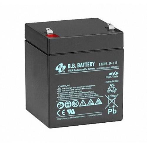 Аккумуляторная батарея для эхолота В.В.Battery HR 5.8-12 на 12V 5.8Ah (90x70x102mm)