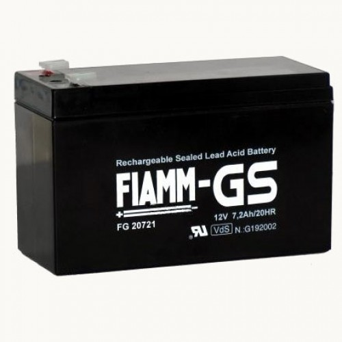 Аккумуляторная батарея для эхолота FIAMM FG 20721 на 12V 7.2Ah (151x65x94mm)