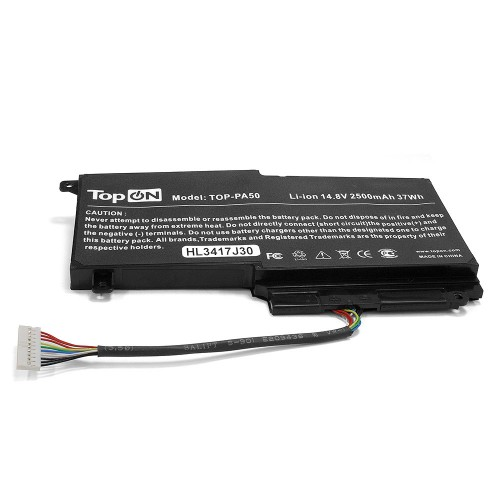 Аккумулятор для ноутбука Toshiba Satellite L45, L50, P50, P55, S50 Series. 14.4V 2830mAh 37Wh. PN: CS-TOL550NB, PA5107U-1BRS.