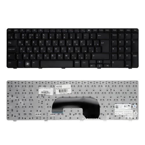 Клавиатура для ноутбука Dell Inspiron N7010, 17R Series. Г-образный Enter. Черная, с черной рамкой. PN: AEUM9K00020, 05NVKG.