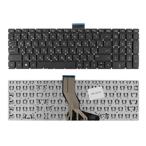 Клавиатура для ноутбука HP Pavilion 15-ab, 15-ak, 5-z, 15-au, 15-ae, 17-g Series. Плоский Enter. Черная, без рамки. PN: 809031-251, V150646CS1.
