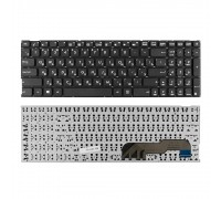 Клавиатура для ноутбука Asus D541N, X541, X541U Series. Плоский Enter. Черная, без рамки. PN: 9Z.ND00OM.00R.