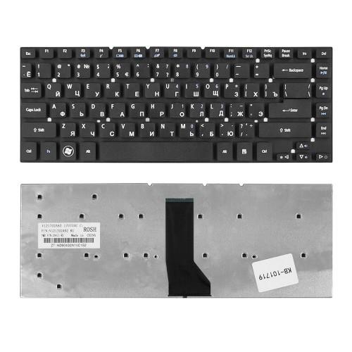 Клавиатура для ноутбука  Acer Aspire 3830, 4830, 4755 Series. Г-образный Enter. Черная, без рамки. PN: KBI140A292, KBI140G260.