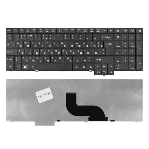 Клавиатура для ноутбука Acer TravelMate 5760, 7750, 6595TG Series. Г-образный Enter. Черная, без рамки. PN: 9Z.N6SSQ.00R.