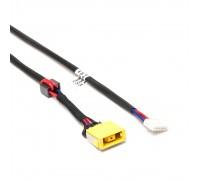 Разъем питания PJ585 для ноутбука Lenovo IdeaPad G400, G500, G505 Series. 11x4.5 mm с иглой. C кабелем 23 см. PN: DC30100P200, DC30100NX00.