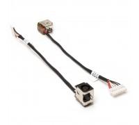 Разъем питания PJ362 для ноутбука HP Pavilion DV6, DV6-6000, DV7-6000 Series. 7.4x5.0 mm с иглой. С кабелем 15 см. PN: 50.4RN09.001, 50.4RN09.021.
