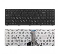 Клавиатура для ноутбука Lenovo Ideapad 100-15, 100-15IBD Series. Плоский Enter. Черная, с рамкой. PN: SN20J78609.