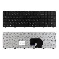 Клавиатура для ноутбука HP Pavilion DV7-6000, DV7-6100, DV7-6b00, DV7-6c00 Series. Плоский  Enter. Черная, с черной рамкой. PN: 2B-03916W601.