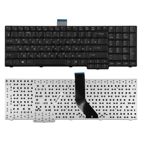 Клавиатура для ноутбука Acer Aspire 8920, 8930, 7730 Series. Плоский Enter. Черная, без рамки. PN: AEZY6700010.