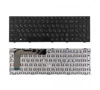Клавиатура для ноутбука Lenovo IdeaPad 110-15ISK Series. Плоский Enter. Черная, с рамкой. PN: 5N20l25910, PK1311W1A05, PK131NT1A05