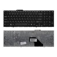Клавиатура для ноутбука Sony Vaio VPC-F11, VPC-F12, VPC-F13 Series. Плоский Enter. Черная, без рамки. PN: 148781561, 9Z.N3S82.201.