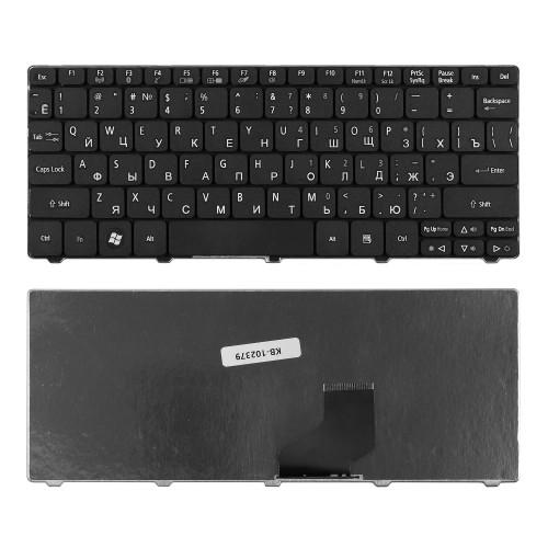 Клавиатура для ноутбука Acer Aspire One 521, 522, 532, D260, D270 Series. Плоский Enter. Черная, без рамки. PN: 90.4GS07.C0R, 9Z.N3K82.A0R.
