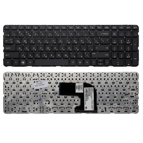 Клавиатура для ноутбука HP Pavilion DV6-7000, DV6-7100, DV6-7200, DV6-7300 Series. Плоский Enter. Черная, без рамки. PN: NSK-CK0UW, 9Z.N7YUW.00R.