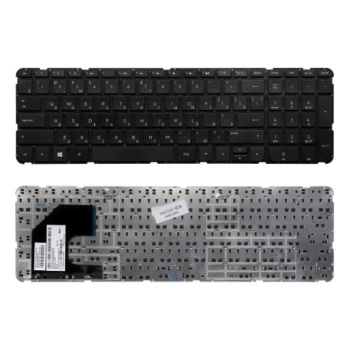 Клавиатура для ноутбука HP Pavilion Envy 15-b, Sleekbook 15, TouchSmart 15-b100 Series. Плоский Enter. Черная, без рамки. PN: 703915-251.
