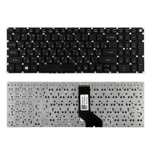 Клавиатура для ноутбука Acer Aspire E5-522, E5-573, E5-722 Series. Г-образный Enter. Черная, без рамки. PN: NK.I1513.006.