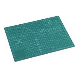 Коврик для макетирования и резки 22x30см A4 двусторонний с разметкой. ПВХ с самовосстанавливающимся покрытием. Цвет зеленый