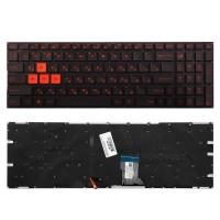 Клавиатура для ноутбука Asus GL502, GL502VM, GL502VS. Плоский Enter. Черная с подсветкой, без рамки. PN: 0KNB0-E601RU00, 13NB06G1AP020-1.