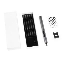 Электрическая отвертка IQ-Screw для точных работ, алюминиевый корпус, круговая подсветка, 20 бит, магнетизатор