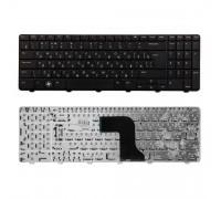 Клавиатура для ноутбука Dell Inspiron M5010, N5010 Series. Г-образный Enter. Черная, без рамки. PN: NSK-DRASW 0R, 9Z.N4BSW.A0R.